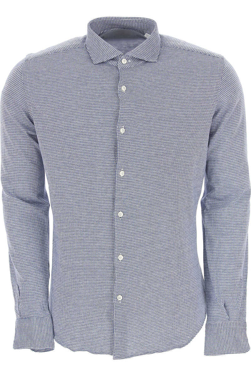 Xacus Shirt for Men On Sale Blue - GOOFASH