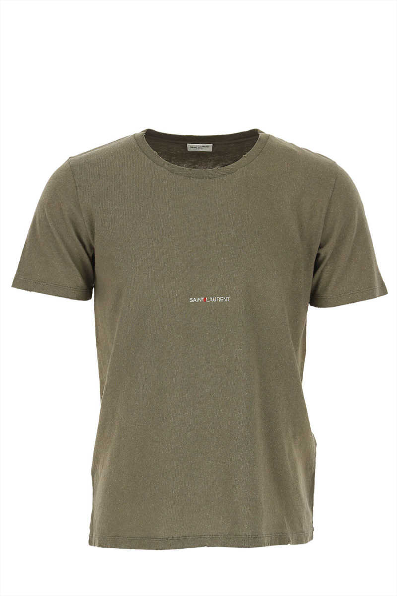 Yves Saint Laurent T-Shirt for Men On Sale in Outlet Military Green UK - GOOFASH - Mens T-SHIRTS