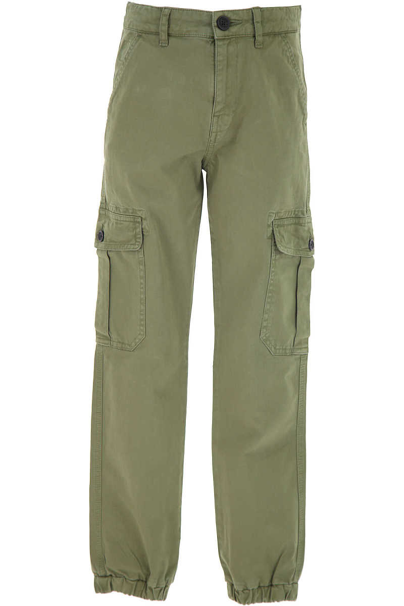 Zadig & Voltaire Kids Pants for Boys Dark Military Green UK - GOOFASH - Mens TROUSERS
