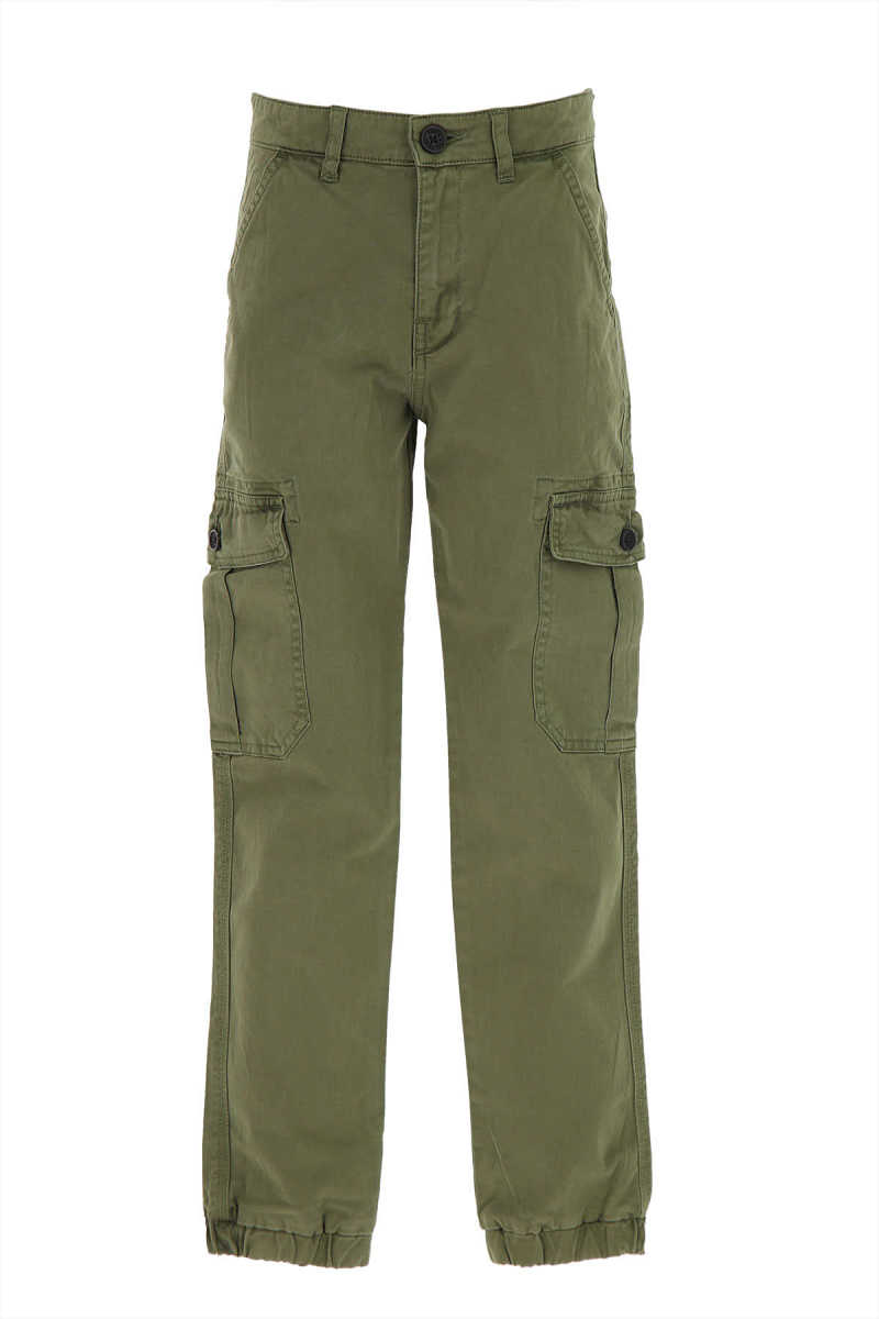 Zadig & Voltaire Kids Pants for Boys On Sale Military Green - GOOFASH - Mens TROUSERS