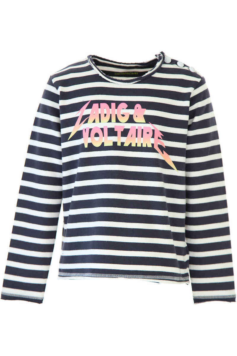 Zadig & Voltaire Kids Sweaters for Girls Blue - GOOFASH - Womens SWEATERS