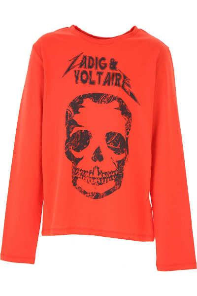 Zadig & Voltaire Kids T-Shirt for Boys Red - GOOFASH - Mens T-SHIRTS