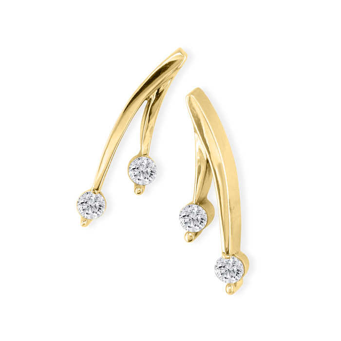 1/4 Carat Diamond Olive Branch Earrings