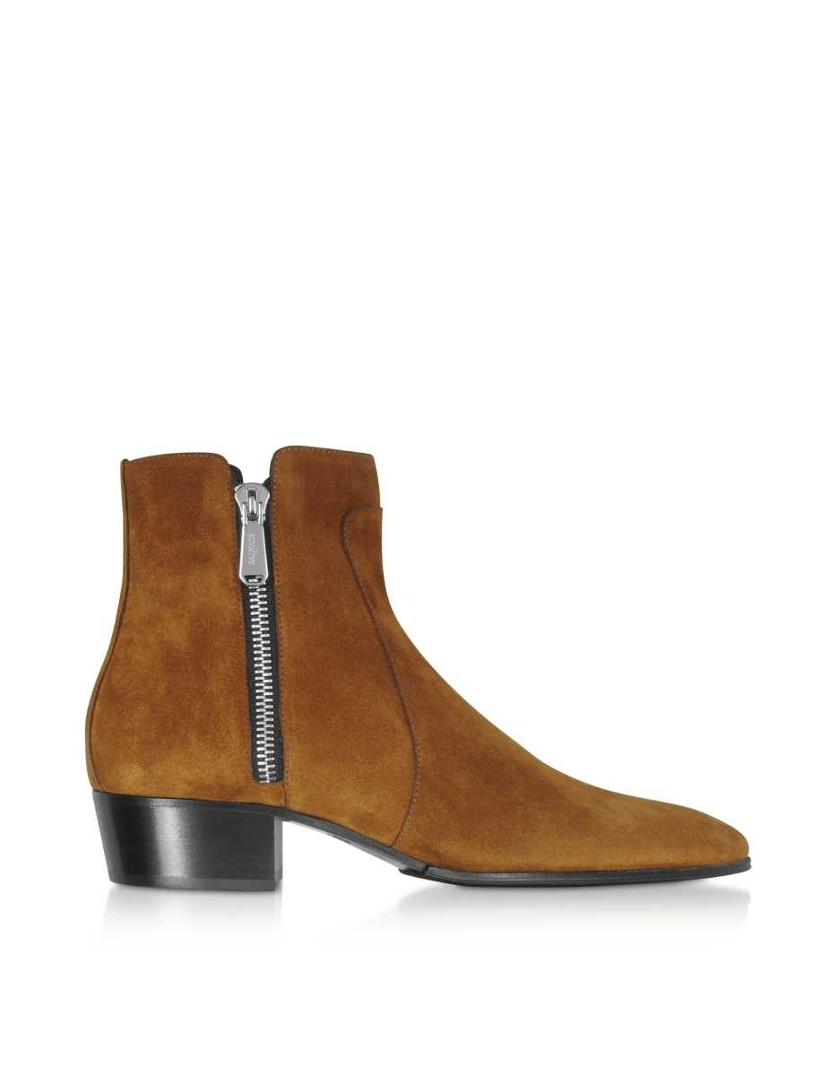Balmain  Shoes Mike Brown Suede Men's Boots Brown USA - GOOFASH - Mens BOOTS