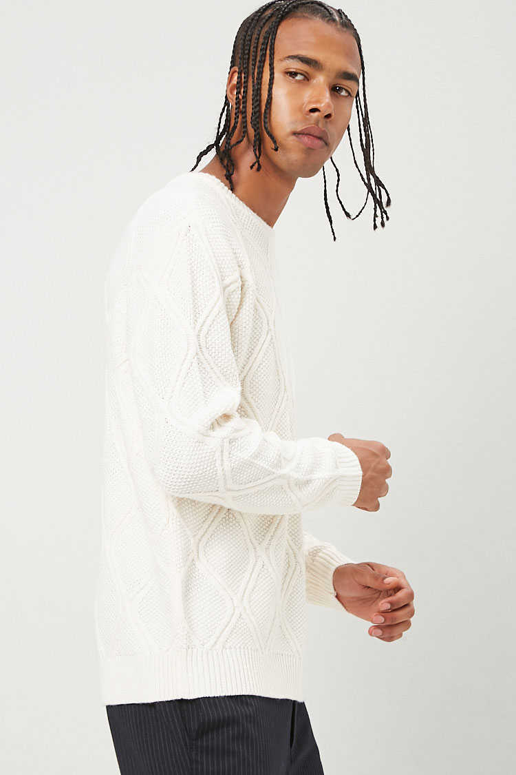 Cable-Knit Sweater at Forever 21
