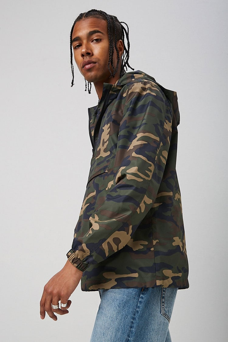 Camo Print Anorak at Forever 21