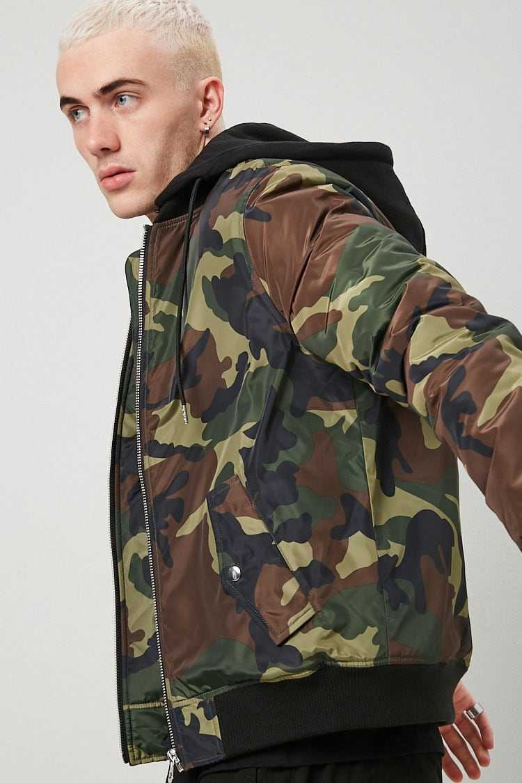 Camo Zip-Up Jacket at Forever 21