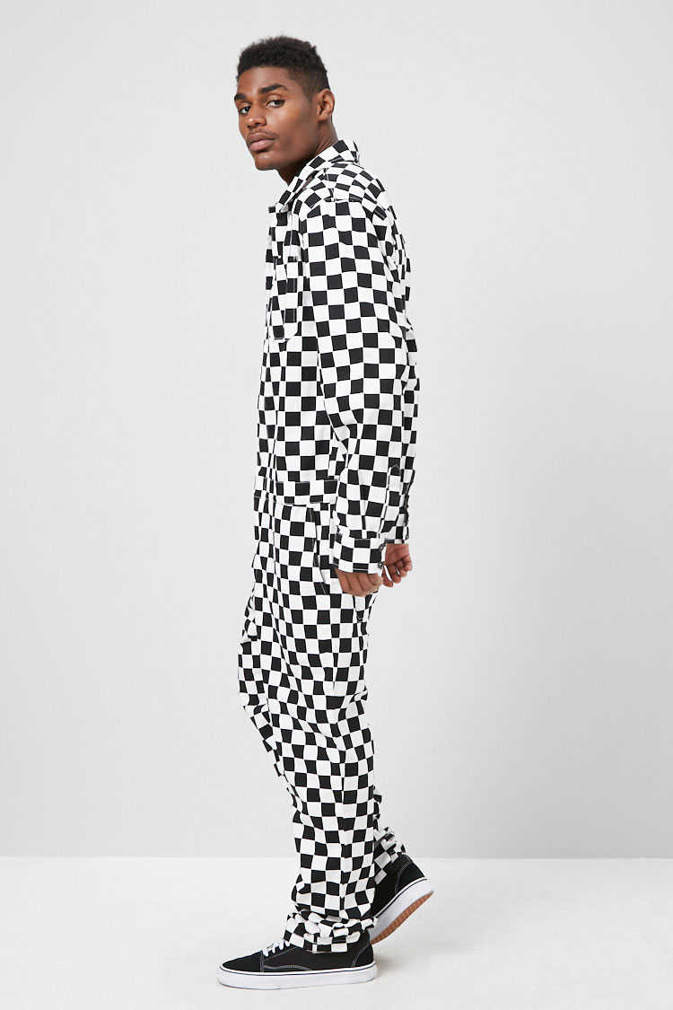 Checkered Print Jumpsuit at Forever 21