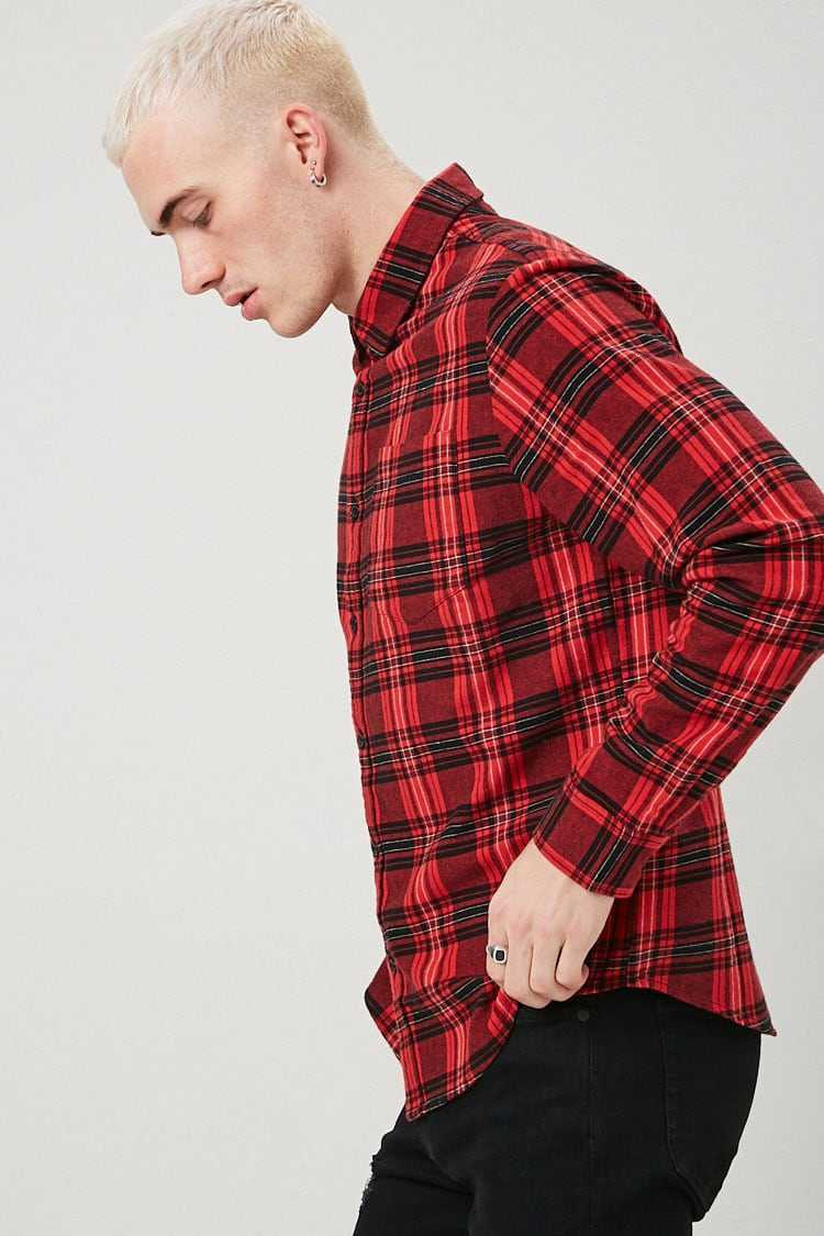Classic Fit Plaid Flannel Shirt at Forever 21