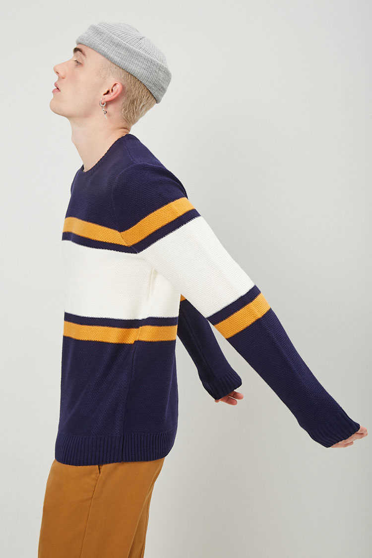 Colorblock Knit Sweater at Forever 21