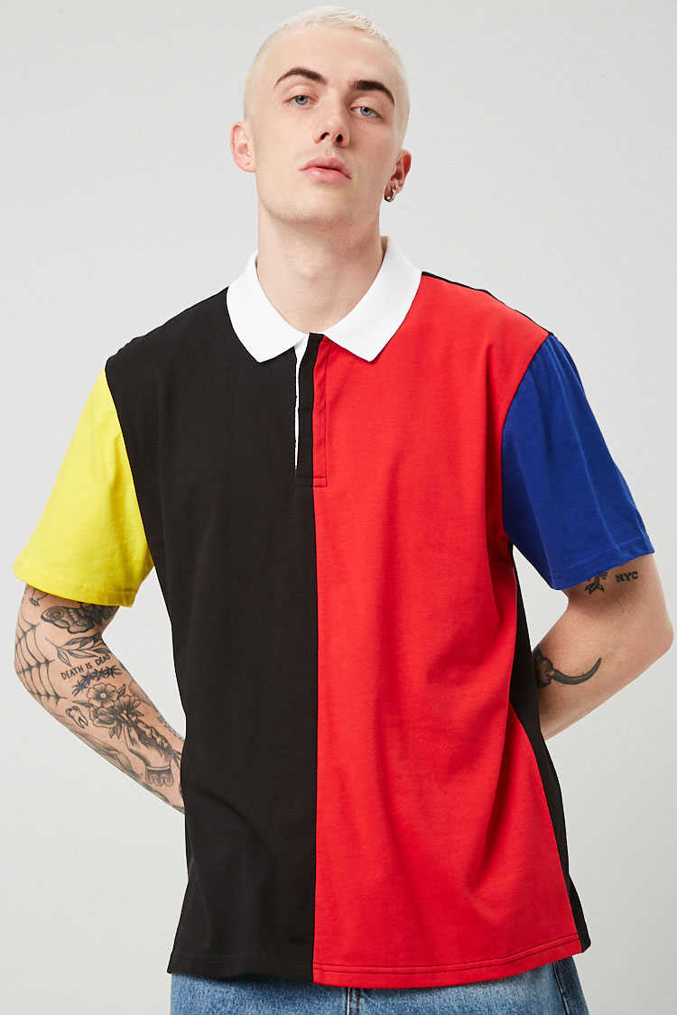 Colorblock Print Polo at Forever 21