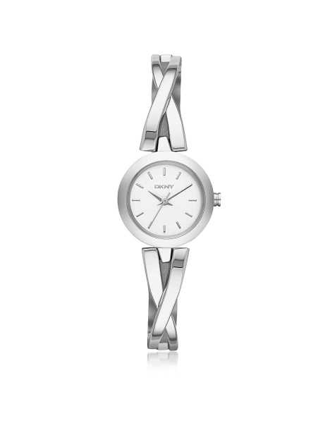 DKNY Women's Watches Crosswalk Round Dial Silver Tone Stainless Steel Women's Watch Silver USA - GOOFASH - Womens T-SHIRTS