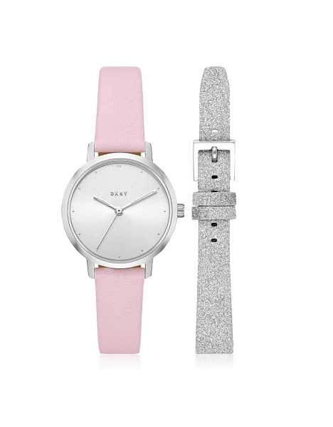 DKNY Women's Watches The Modernist Silver Tone Leather Watch Set Silver USA - GOOFASH - Womens WATCHES