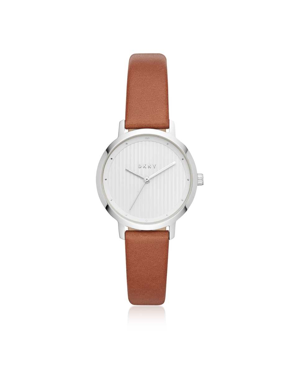 DKNY  Women's Watches The Modernist Silver Tone and Brown Leather Women's Watch Silver USA - GOOFASH - Womens WATCHES