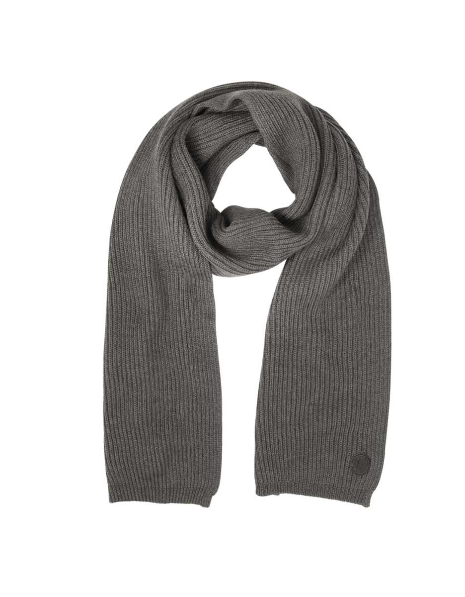 DSquared2  Men's Scarves Solid Wool Knit Men's Long Scarf Gray USA - GOOFASH - Mens SCARFS
