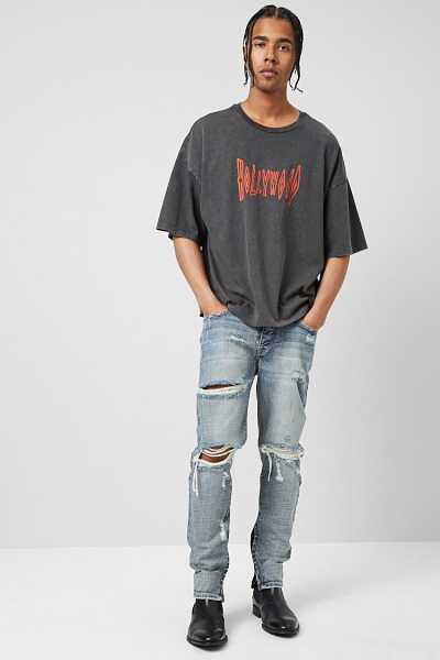 Distressed Ankle-Zip Jeans at Forever 21