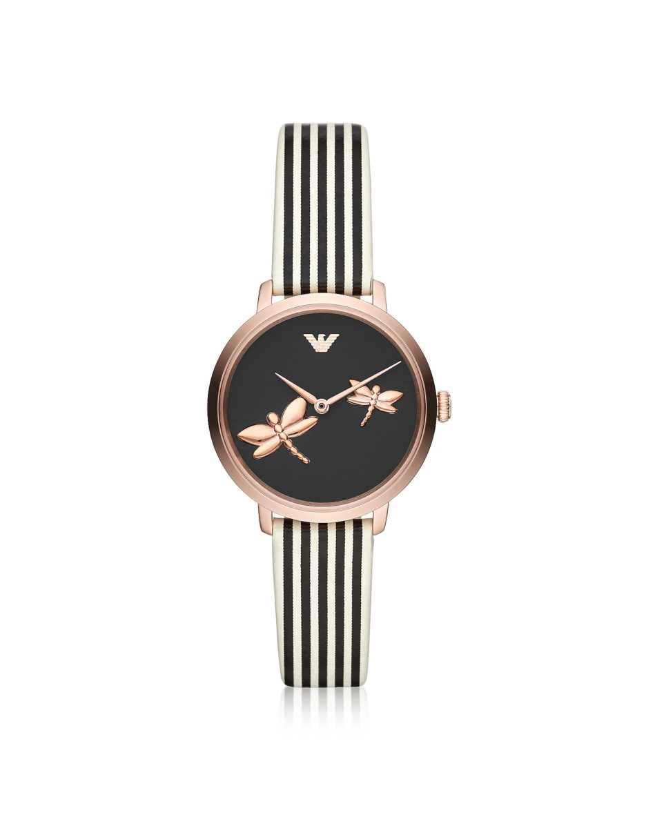 Emporio Armani  Women's Watches Two Hand Dragonfly Watch Rose Gold USA - GOOFASH - Womens WATCHES