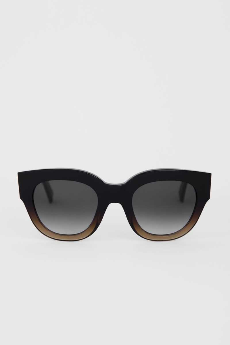 Filippa K Cleo Sunglasses Brown Gradient DK - GOOFASH - Womens SUNGLASSES