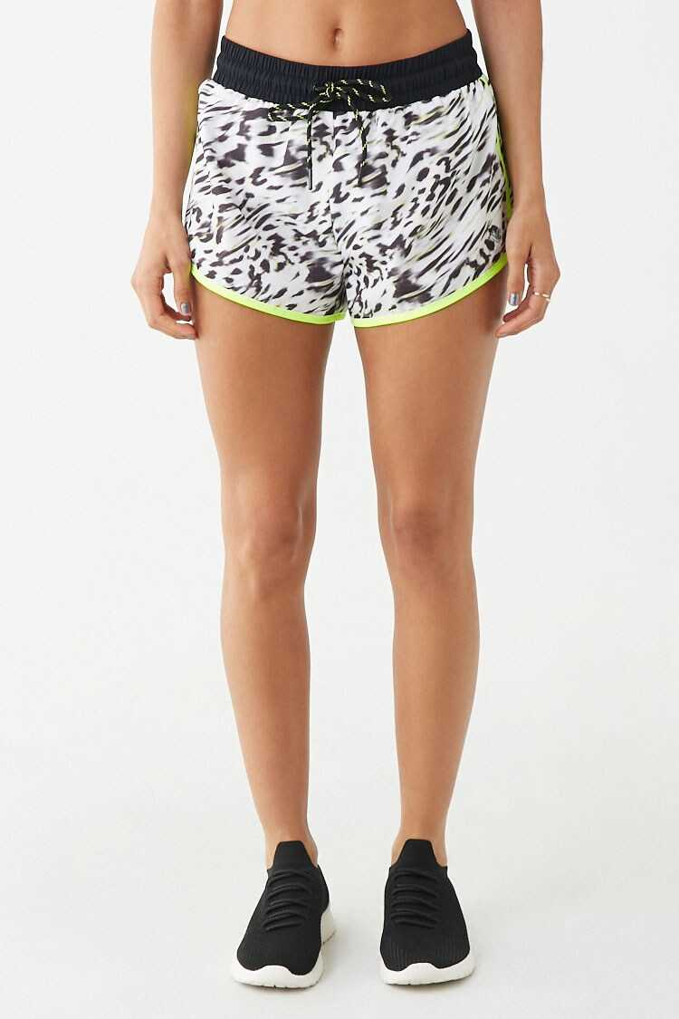 Forever 21 Active Animal Print Dolphin Shorts