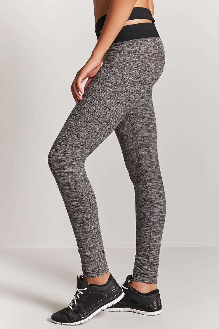 Forever 21 Active Marled Cutout Leggings