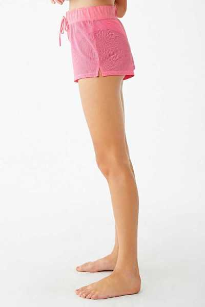 Forever 21 Active Mesh Swim Cover-Up Shorts