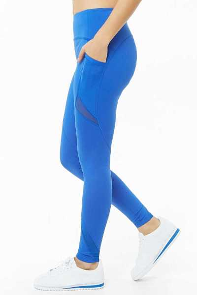 Forever 21 Active Total Coverage Mesh-Inset Leggings
