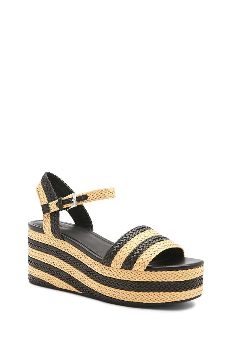 Forever 21 Basketweave Platform Wedges