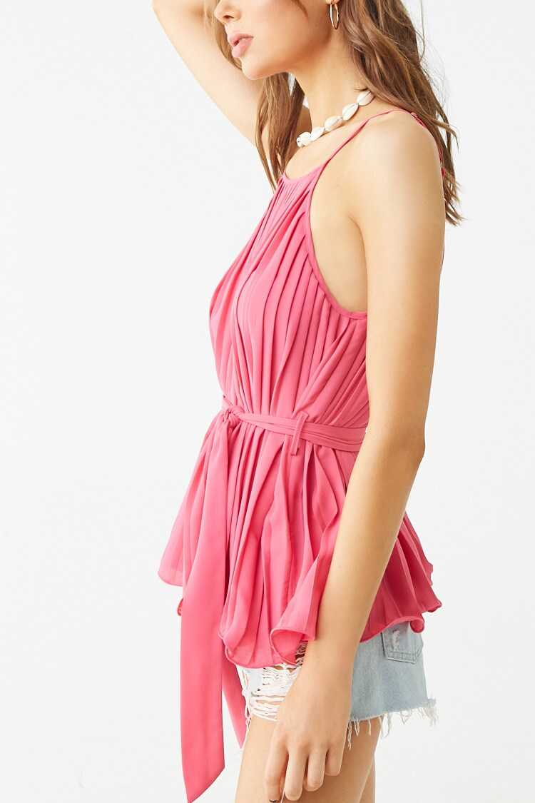 Forever 21 Belted Pleated Cami