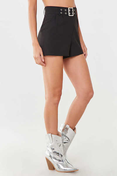 Forever 21 Belted Pleated Shorts