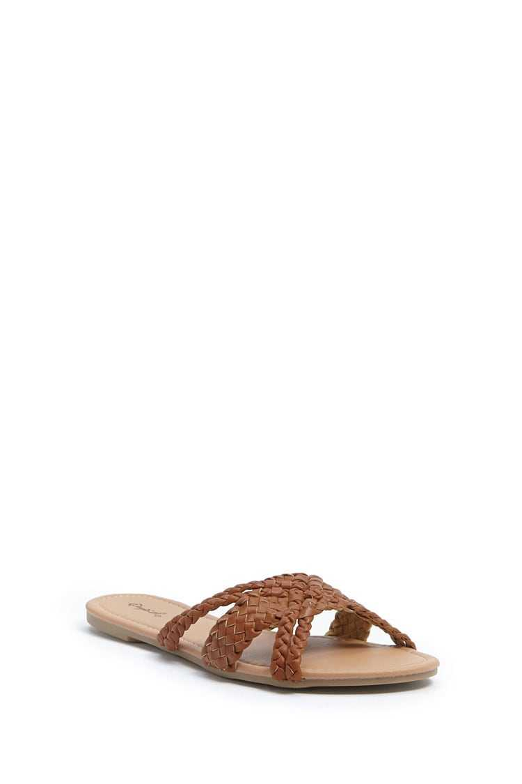 Forever 21 Braided Faux Leather Flats