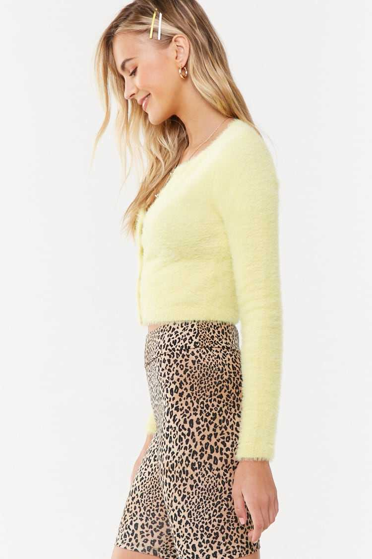 Forever 21 Brushed Button-Front Cardigan