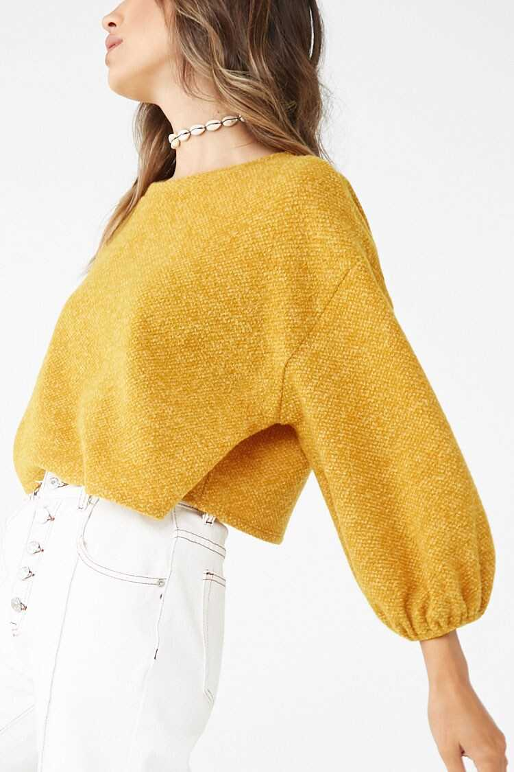 Forever 21 Brushed-Knit Boxy Sweater