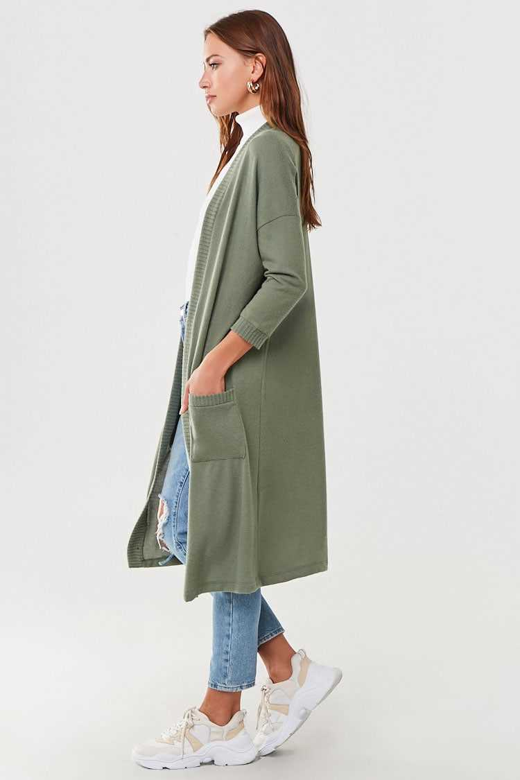Forever 21 Brushed Longline Cardigan