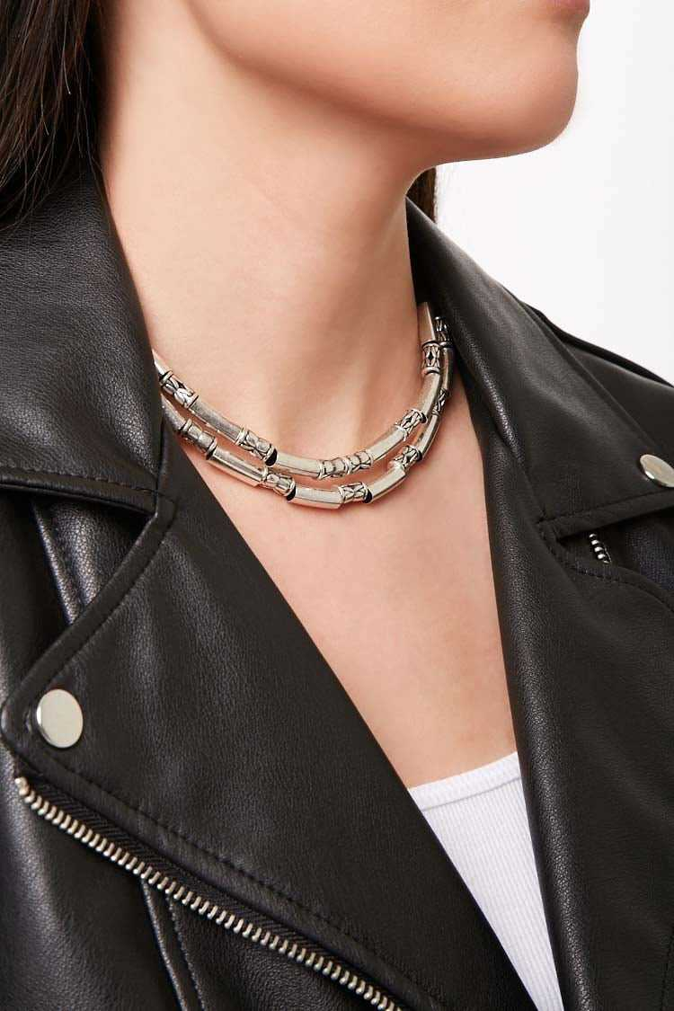 Forever 21 Burnished Layered Necklace