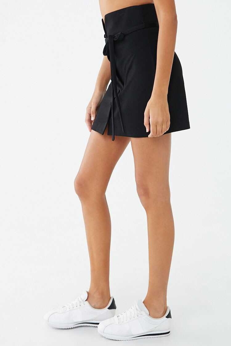Forever 21 Button-Front Belted Mini Skirt