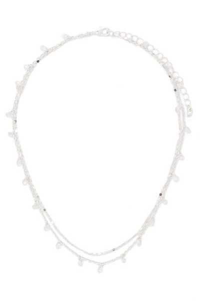 Forever 21 CZ Charm Layered Necklace