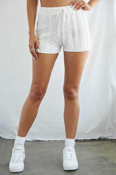 Forever 21 Cable-Knit Drawstring Shorts