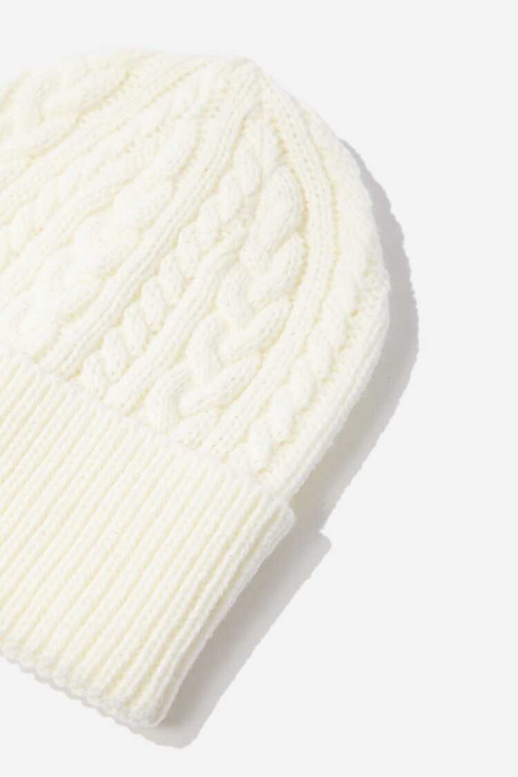 Forever 21 Cable-Knit Foldover Beanie