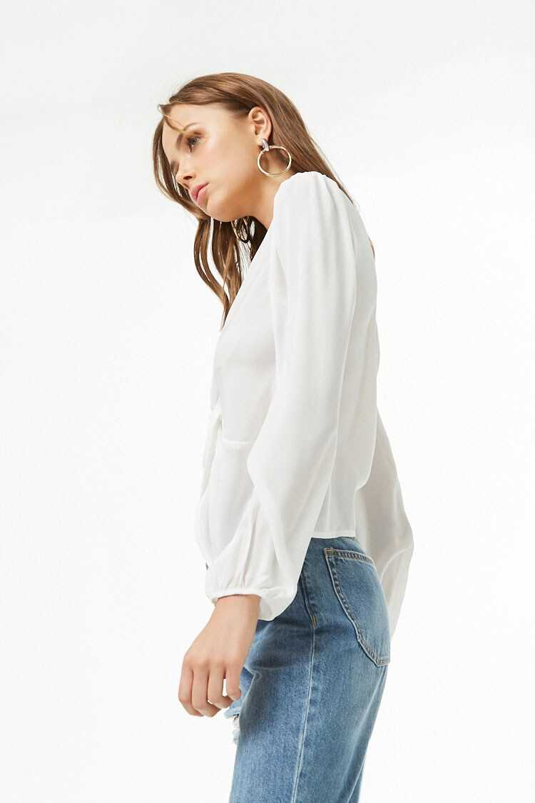 Forever 21 Chiffon Twist-Front Top
