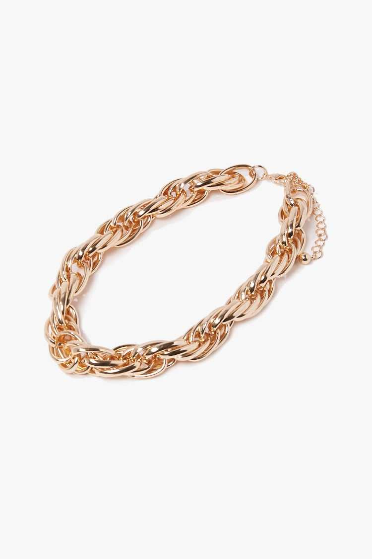 Forever 21 Chunky Interlinked Chain Necklace
