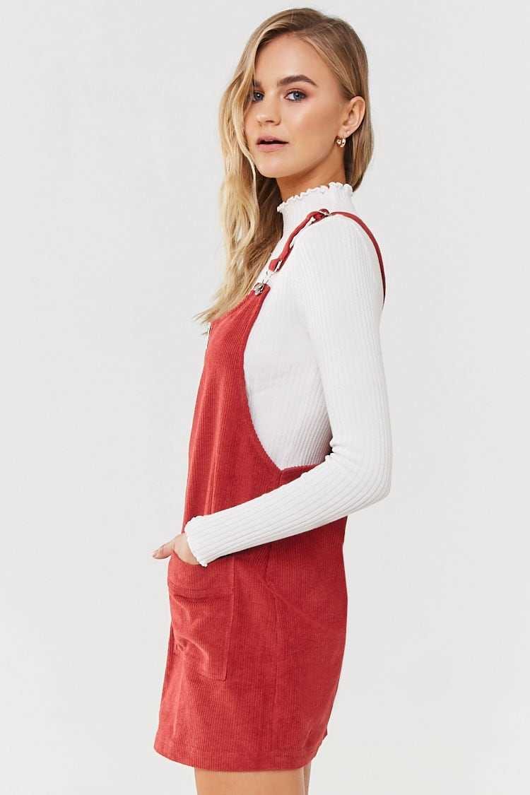 Forever 21 Corduroy Overall Dress