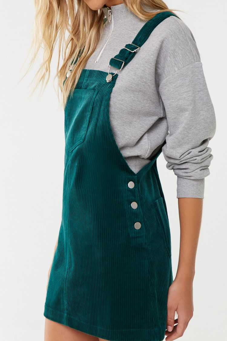 Forever 21 Corduroy Overall Mini Dress