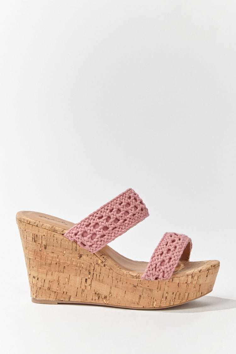 Forever 21 Crochet Trim Wedges