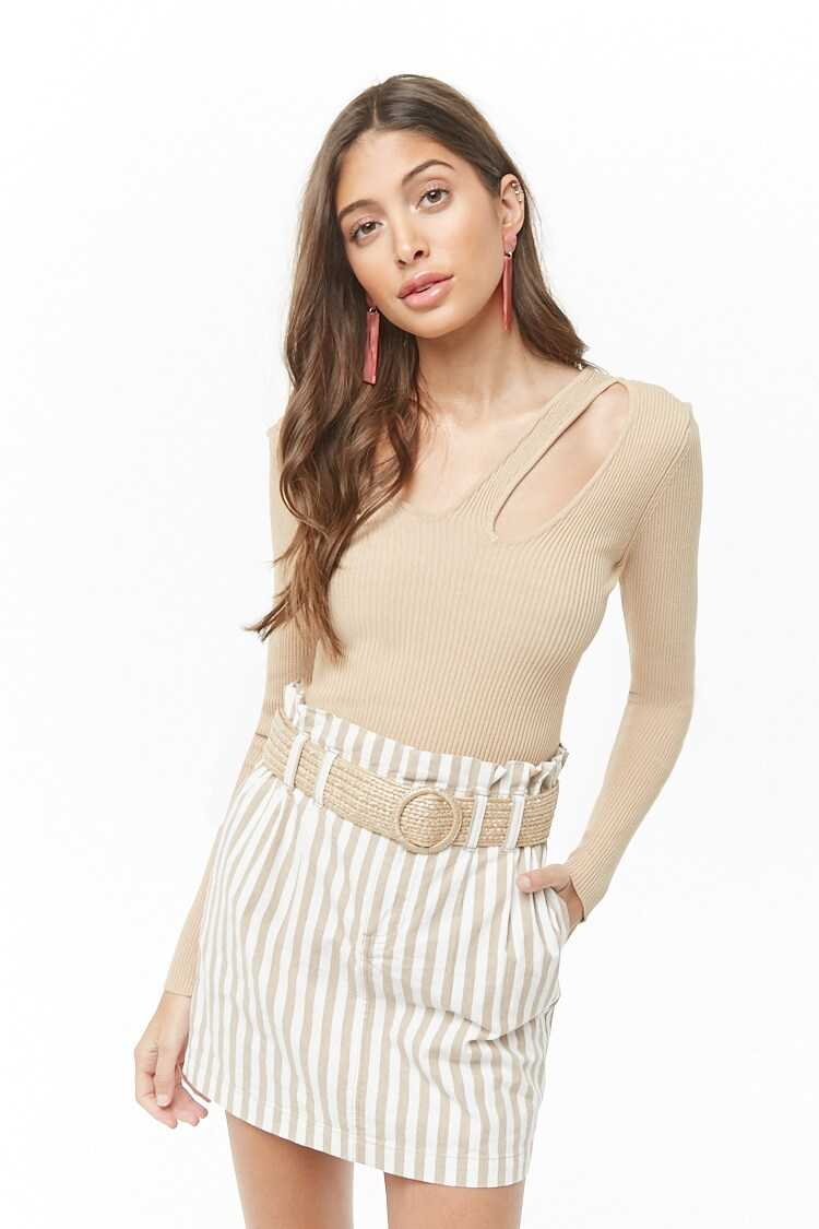 Forever 21 Cutout Ribbed Sweater
