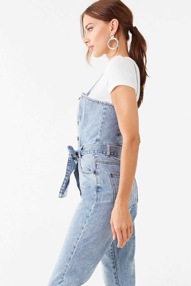 Forever 21 Denim Button-Front Overalls