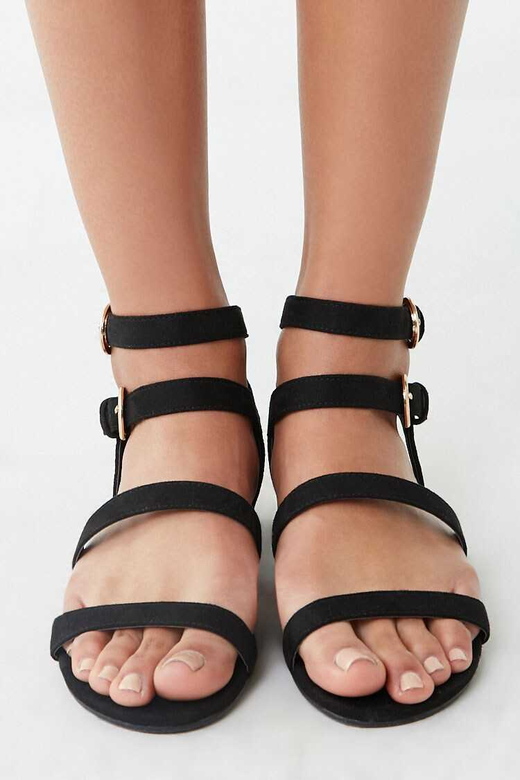 Forever 21 Dual-Strap Caged Sandals