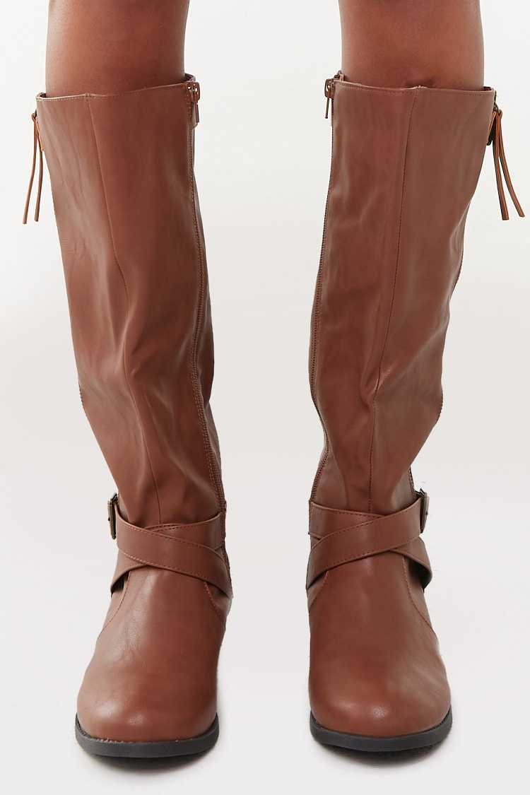 Forever 21 Faux Leather Boots