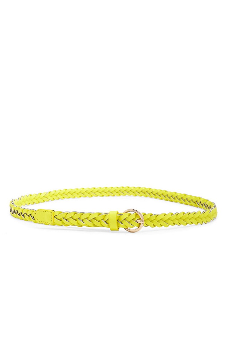 Forever 21 Faux Leather Braided Hip Belt
