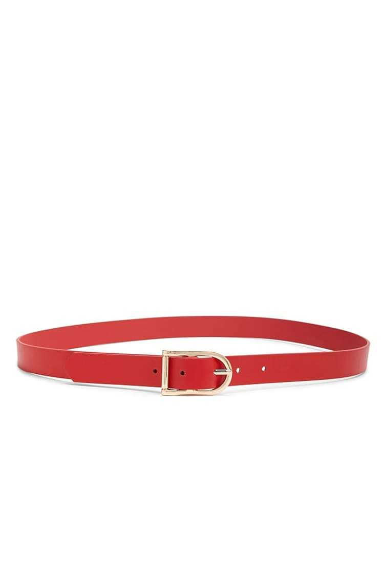 Forever 21 Faux Leather Buckle Belt