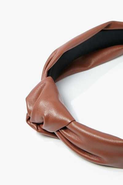 Forever 21 Faux Leather Headband